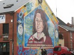 One of the many murals in Belfast