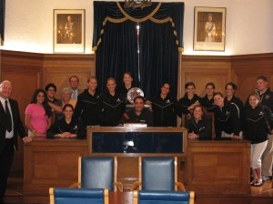 Our reception with the former Mayor of Carrickfergus in the Parliament Room